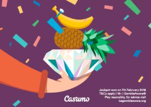 Jackpot fra Casumo Casino