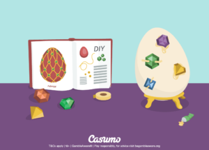 Hos Casumo Casino venter det en overraskelse denne uken. En skinnende verdisak legges til din spillekonto for å feire påsken!