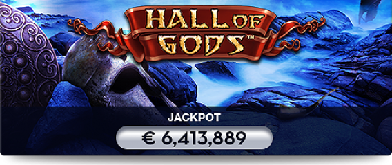 Vinn Hall of Gods jackpotten hos Casumo Casino