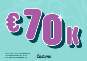€70 000 i prmiepotten i ukens The Big Splash turnering hos Casumo Casino