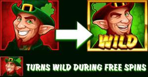 Gnomen blir til wild i Lucky Leprechaun free spins