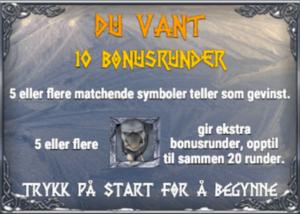 Avdekk BONUS for å få gratisrunder i Troll HUnters