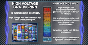 velg High Voltage free spinbs i Danger High Voltage slot