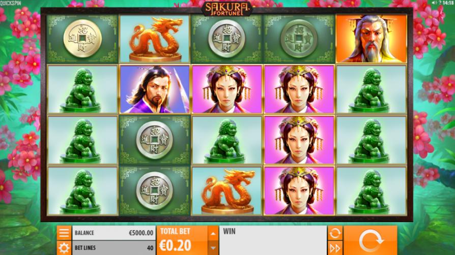 Spill Sakura Fortune og andre spill fra Quickspin hos Casumo Casino