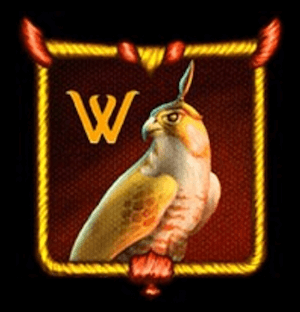 Wild symbolet i The Falcon Huntress slot