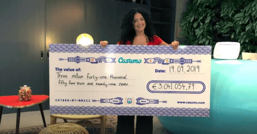 Jackpot gevinst hos Casumo